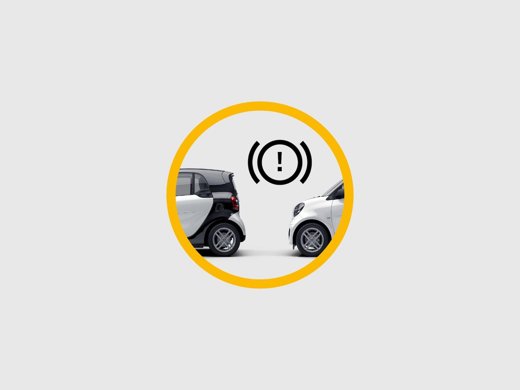 Icon, das den Bremsasisstent zeigt.