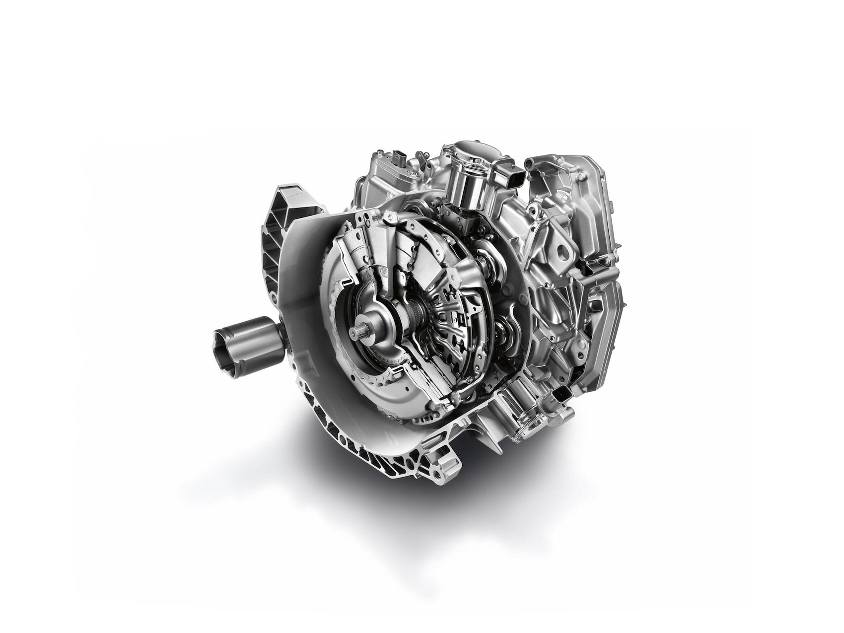 Abbildung zeigt das 6-Gang-Dopplungsgetriebe mit twinamic der Modelle von smart.