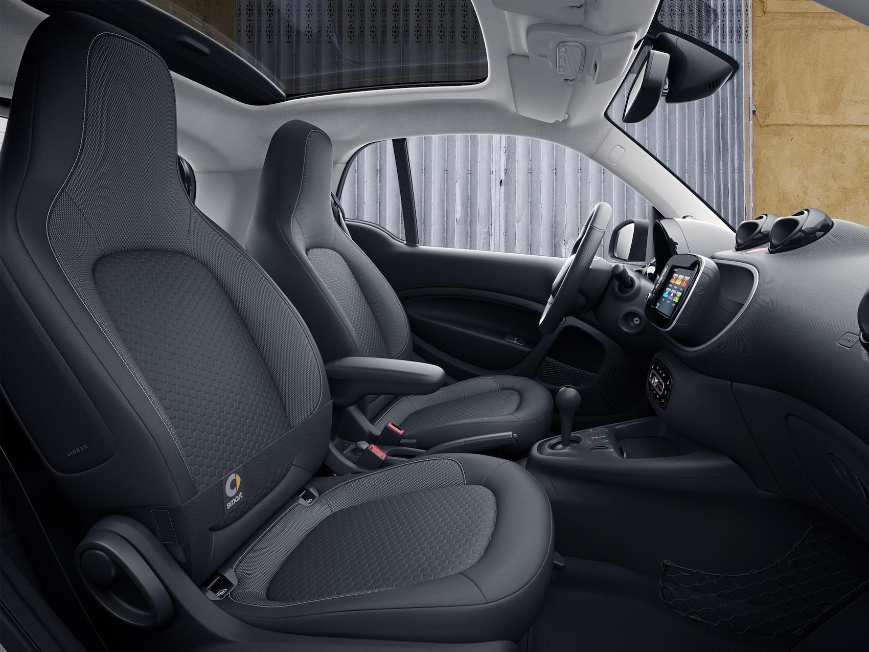 Le nouveau design des sièges de la smart EQ fortwo.
