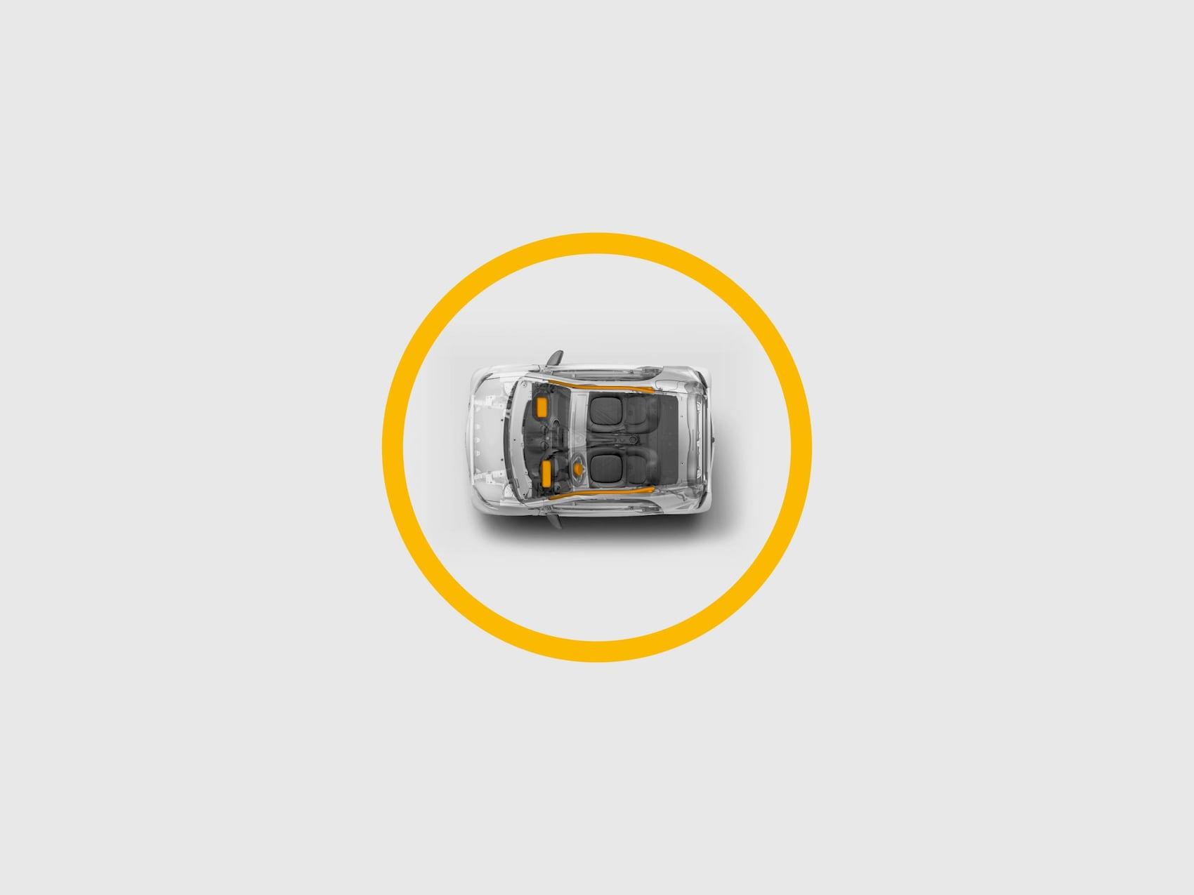 Icône montrant l'airbag.