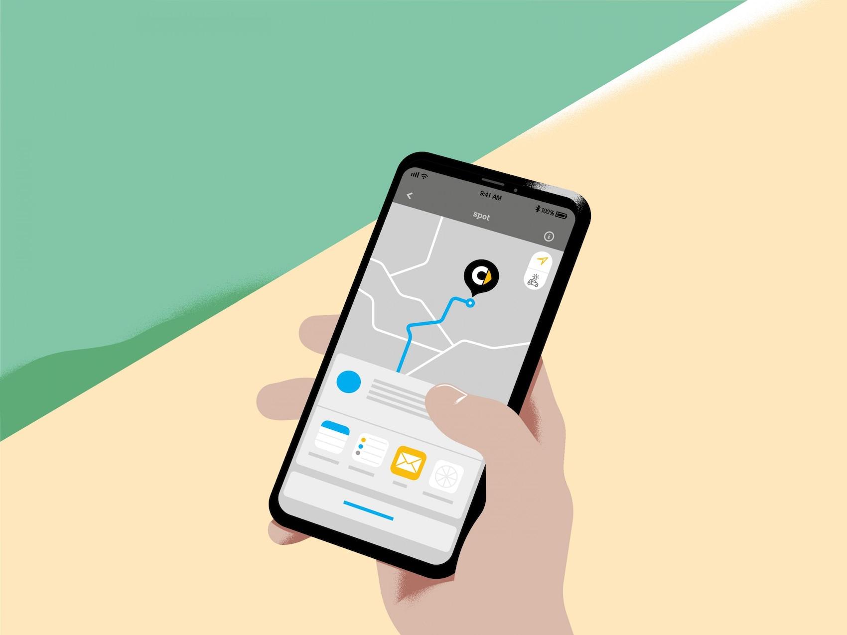 smart tracking met mobiele telefoon