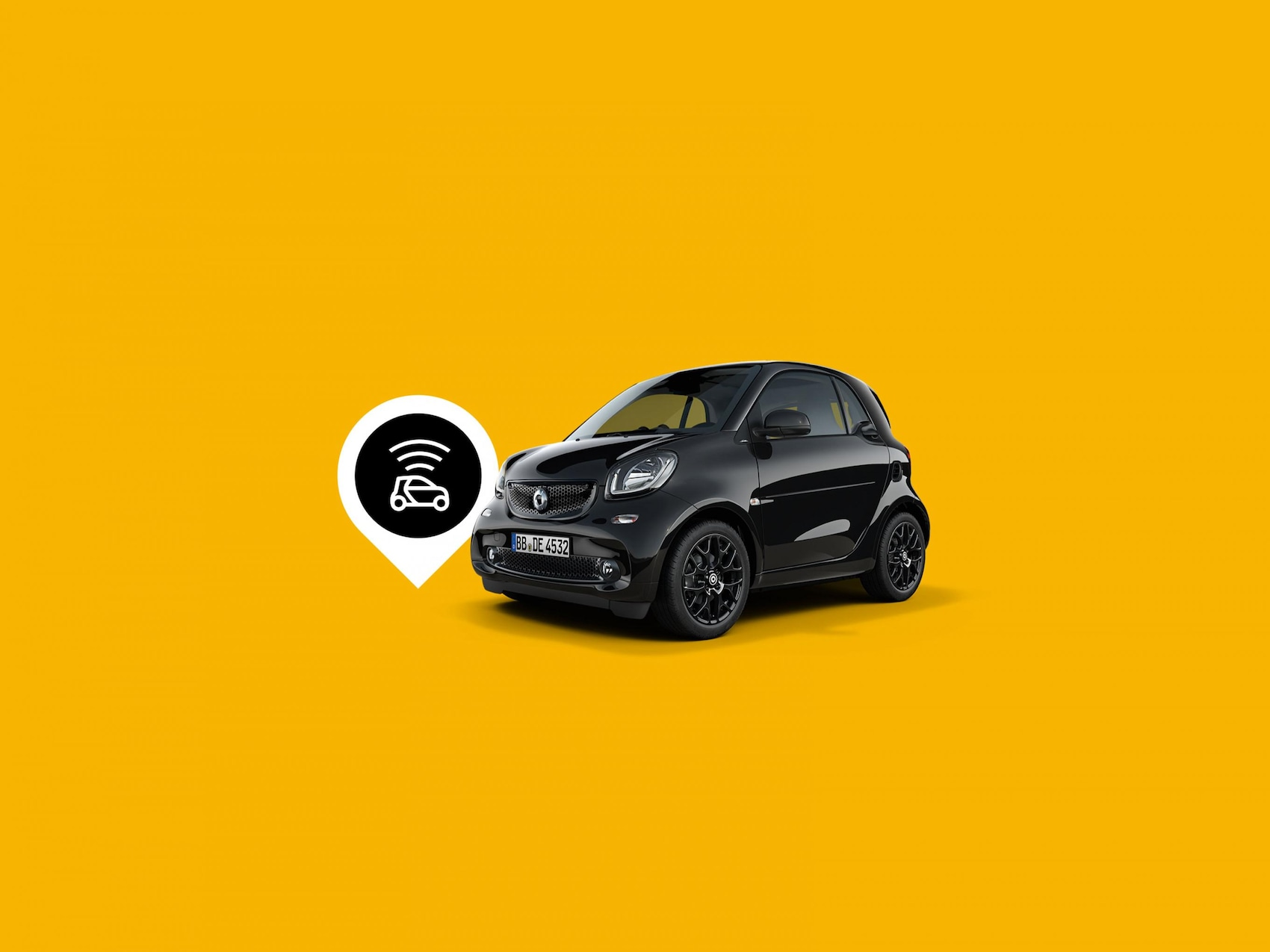 smart EQ fortwo mit Connectivity Symbol