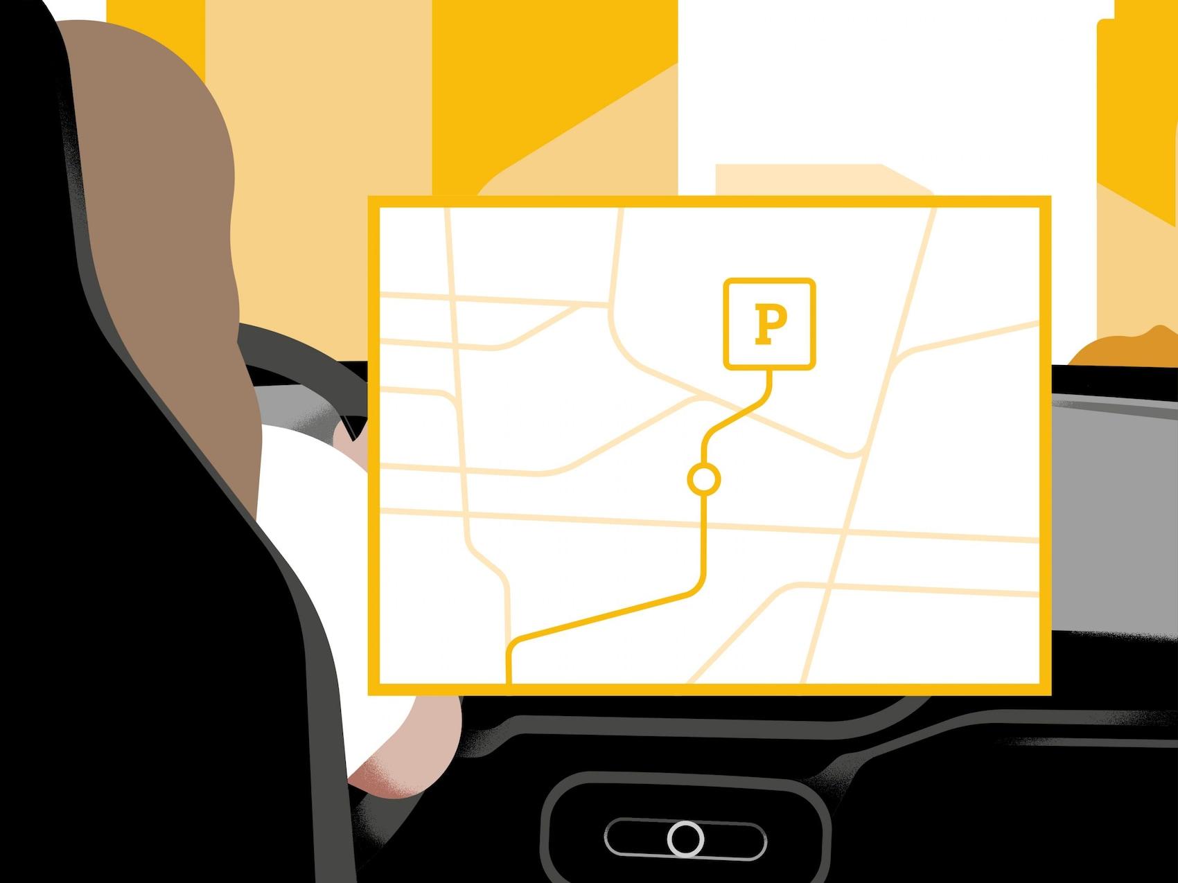 Bildschirm mit Navigation