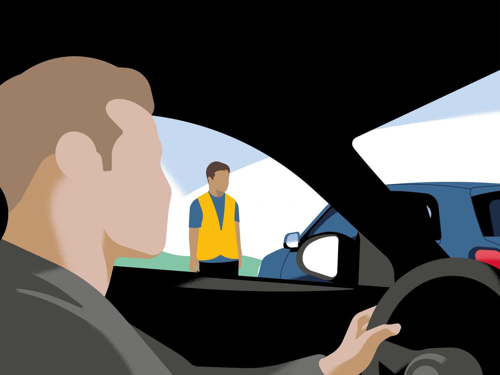 Mann im Auto