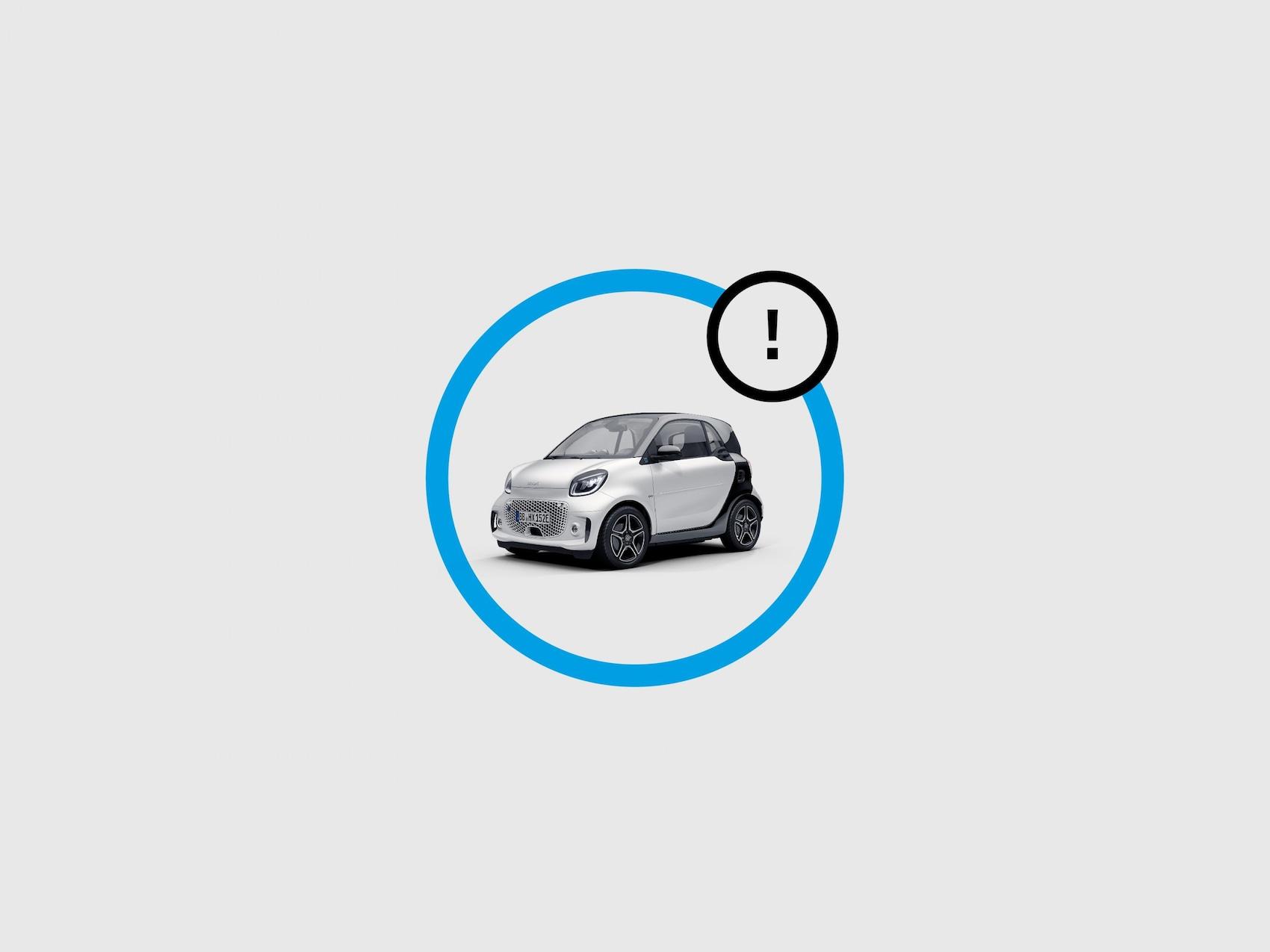 Illustration showing smart EQ control app status messages.