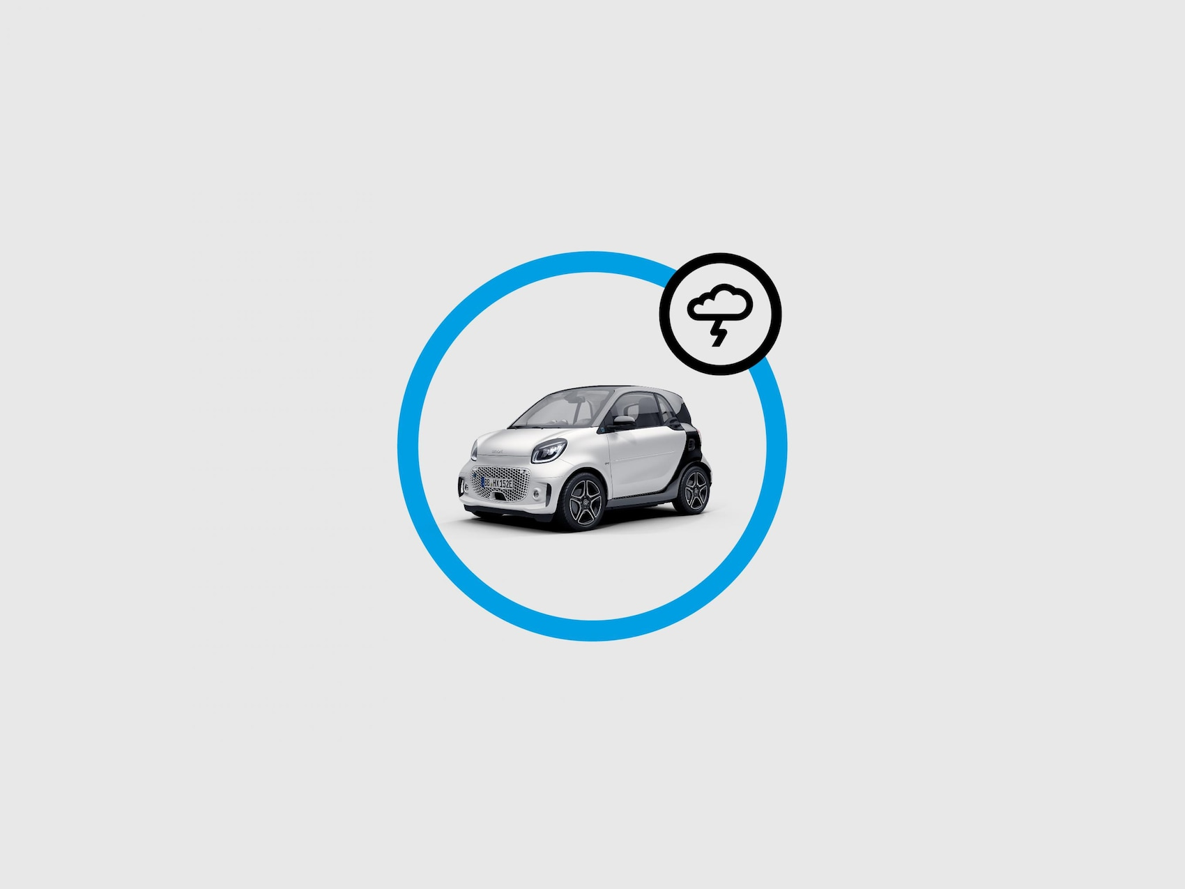 Illustration showing smart EQ control app weather messages.