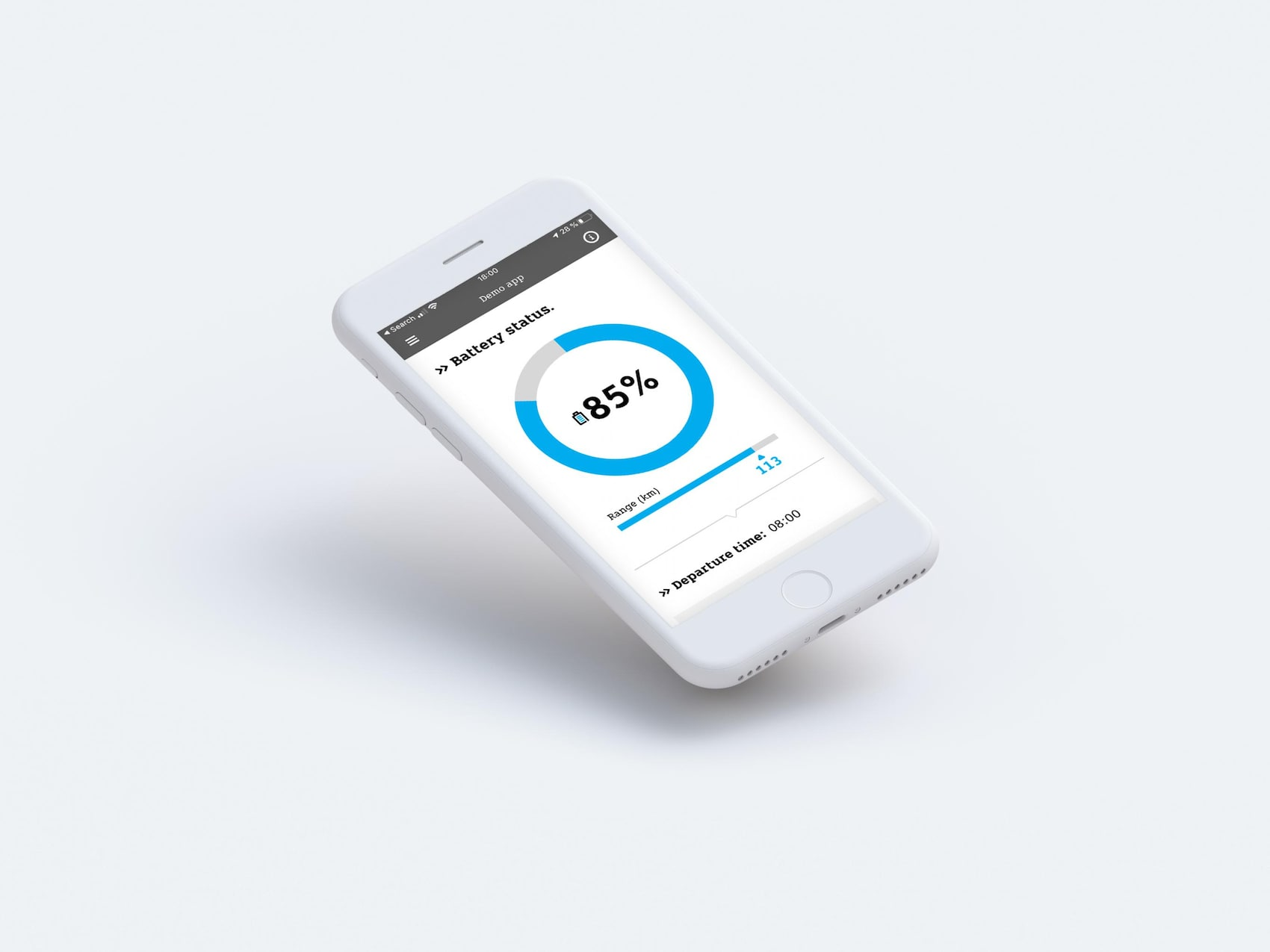 Controllo batteria dell'app smart EQ control