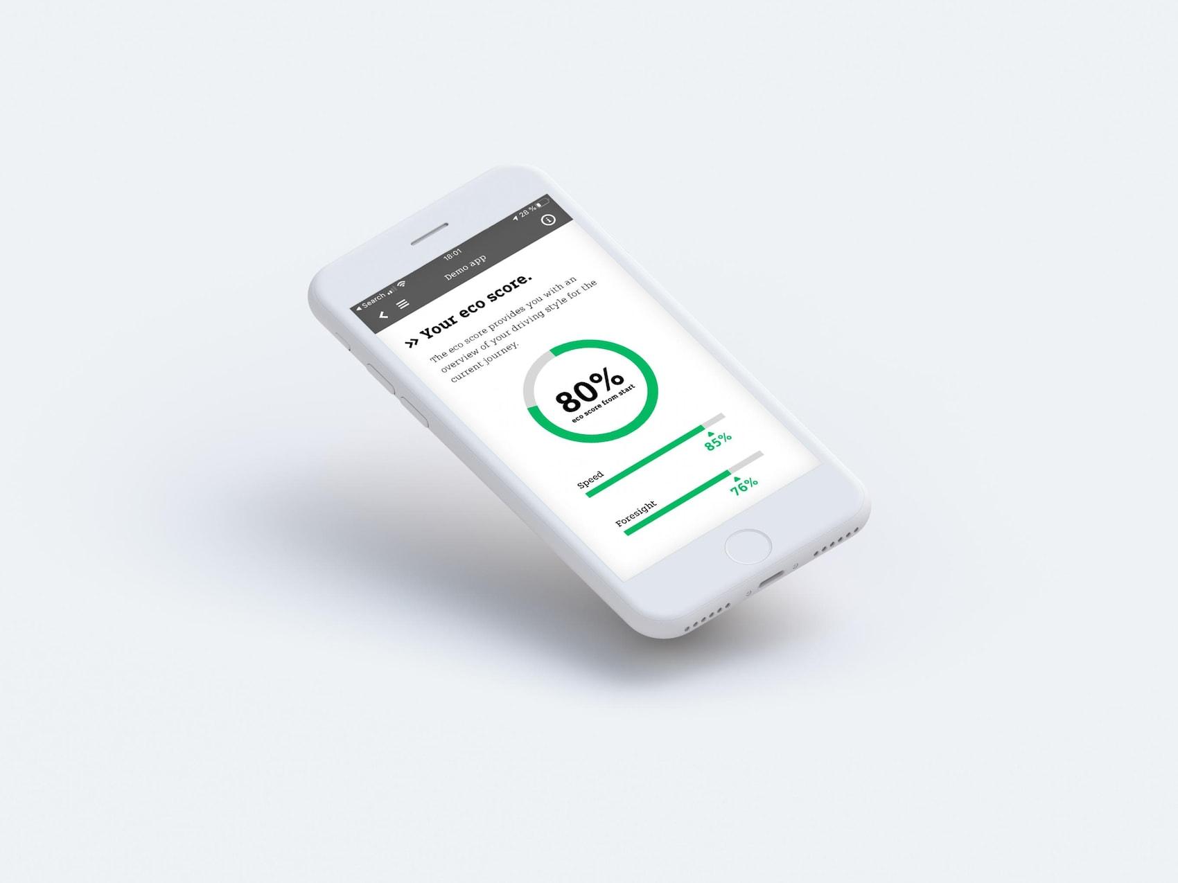 eco score dell'app smart EQ control.