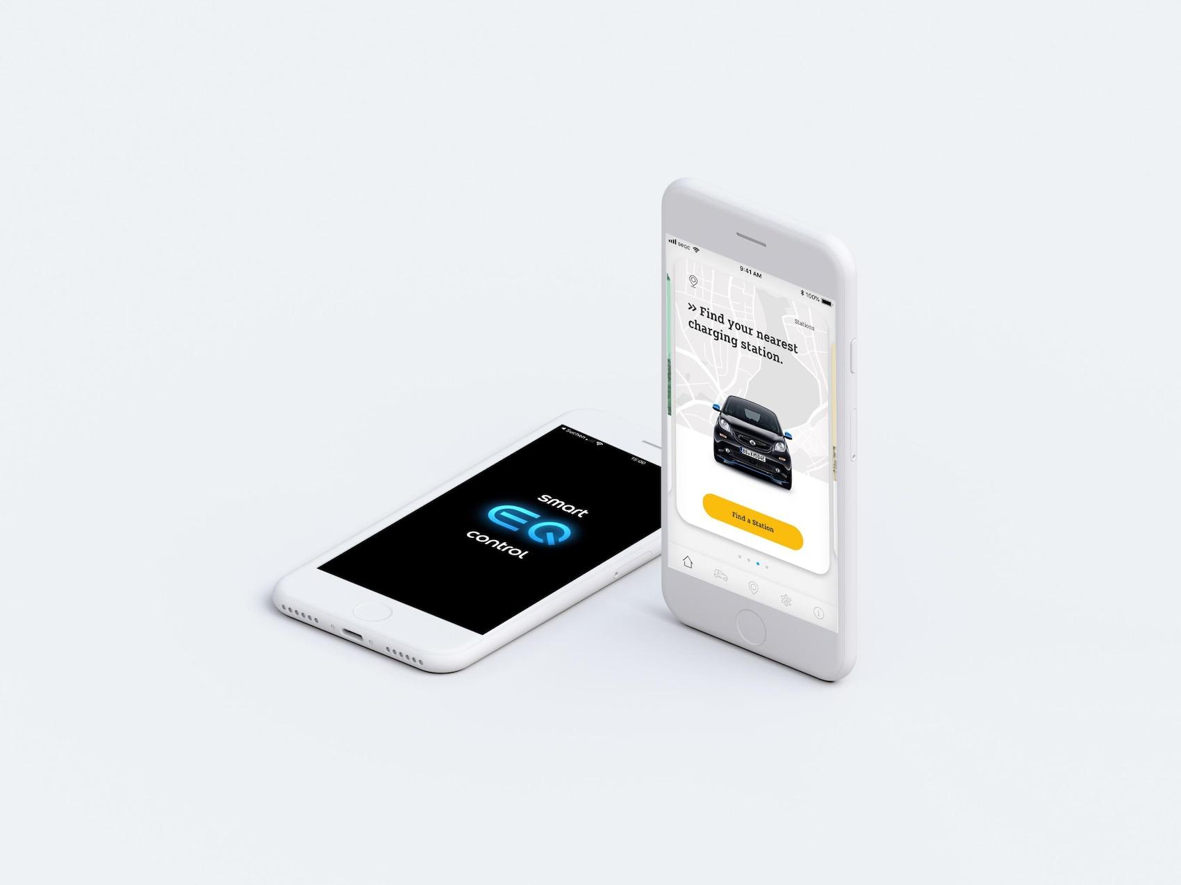 Ecran d'accueil de l'appli smart EQ control.