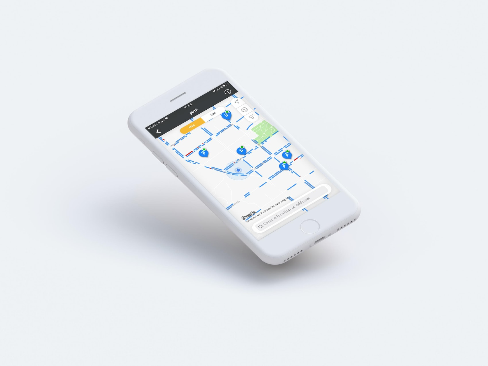 smart 'ready to park'-scherm