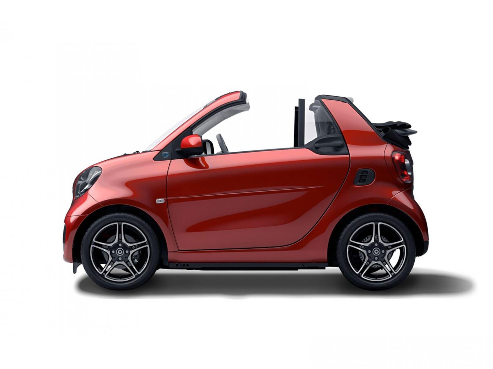 smart eq fortwo cabrio static red